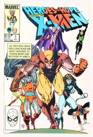 X-MEN HEROES FOR HOPE #1 Marvel Comics 1985 NM