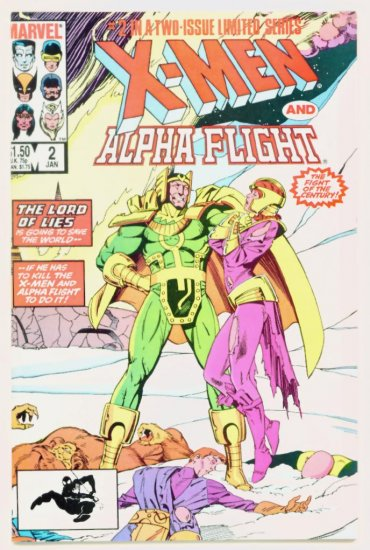 X-MEN and ALPHA FLIGHT #2 Marvel Comics 1985 NM