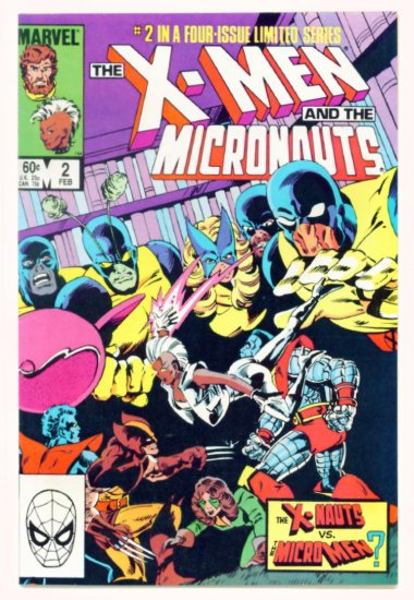 X-MEN and the MICRONAUTS #2 Marvel Comics 1984 NM X-Men
