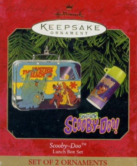 SCOOBY DOO LUNCH BOX SET Miniature Hallmark Christmas Ornament 1999 Hanna Barbera