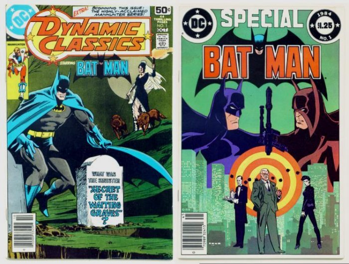 BATMAN SPECIAL and DYNAMIC CLASSICS #1 Lot of 2 DC Comics 1978 - 84 Neal Adams