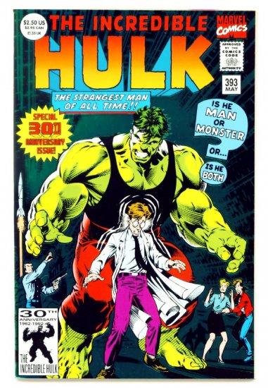 INCREDIBLE HULK #393 Marvel Comics 1992 NM GIANT FOIL COVER
