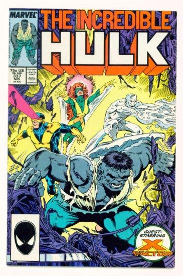 INCREDIBLE HULK #337 Marvel Comics 1987 NM X-FACTOR CO-STARS