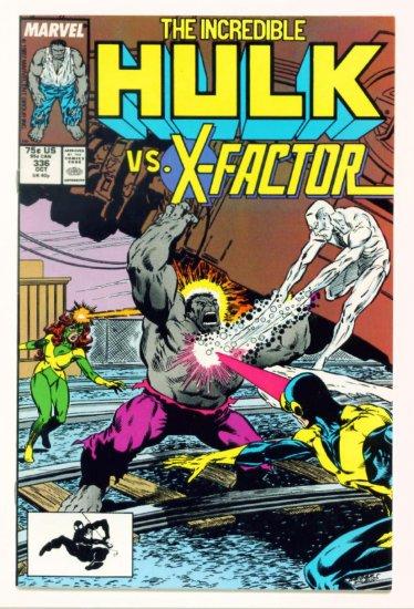 INCREDIBLE HULK #336 Marvel Comics 1987 NM X-FACTOR CO-STARS
