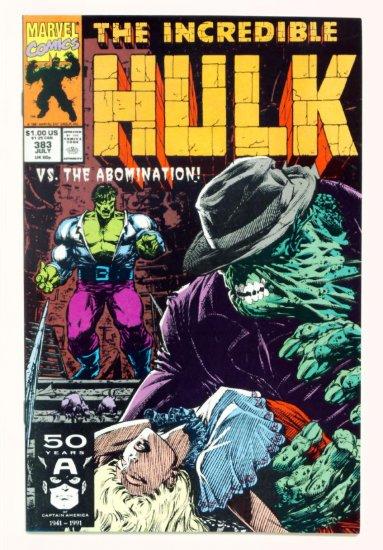 INCREDIBLE HULK #383 Marvel Comics 1991 NM Abomination