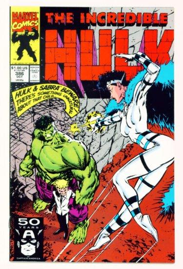 INCREDIBLE HULK #386 Marvel Comics 1991 NM