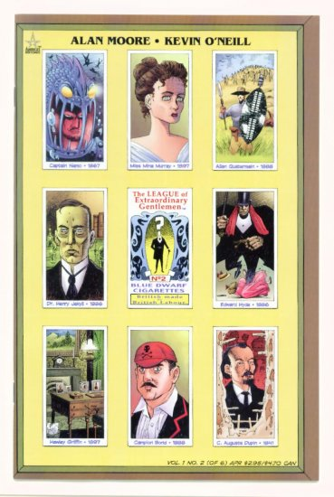 The LEAGUE of EXTRAORDINARY GENTLEMEN #2 ABC Comics 1999 v1 Alan Moore