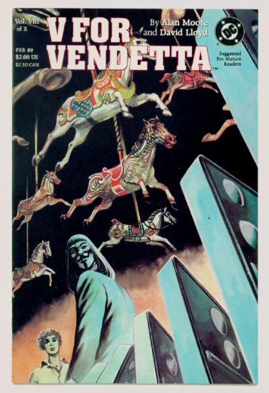 V FOR VENDETTA #8 DC Comics 1988 Alan Moore