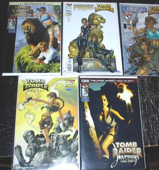TOMB RAIDER Lot of 5 Top Cow Comics Witchblade Crossover