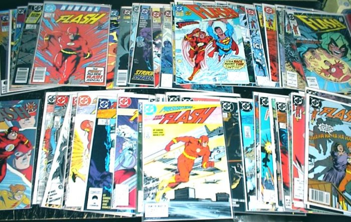 The FLASH Lot of 58 DC Comics 1987 - 2002 #1 - #104 Plus Specials