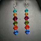 Earrings, Swarovski Crystal, Sterling Silver, Handmade