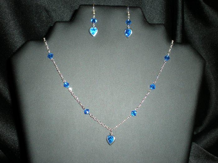 Jewelry Set, Swarovski Crystal, Sterling Silver, Handmade