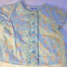 GIRLS SIZE 18 MONTH OSHKOSH BLUE PEACH FLORAL SHIRT