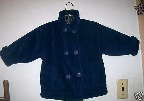 BOYS SIZE 2T CARTER'S KIDS NAVY BLUE DRESS COAT WINTER