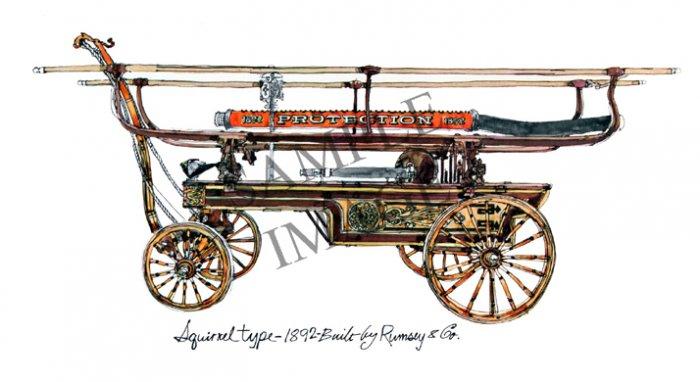 Antique Fire Apparatus Print