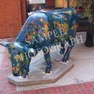 Cows On Parade - Glazed Black and Blue Moo