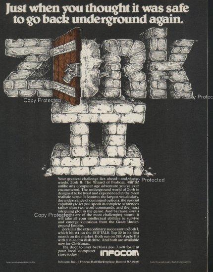 Zork II 1981 Computer Ad