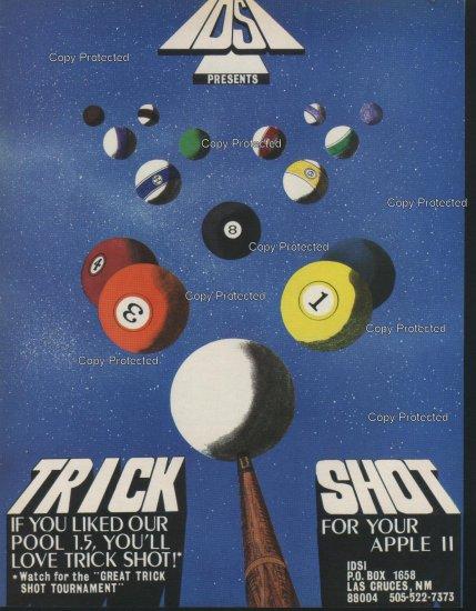 Trick Shot 1981 Computer Ad