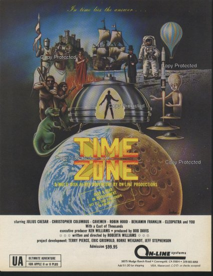 Time Zone 1981 Computer Ad