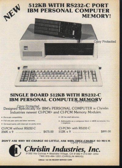 IBM Computer 1982 Vintage Computer Ad