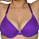 32B Purple ADD 2 CUPS Sizes RACERBACK Front CLOSE EXTREME Push Up BRA