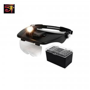Headband Magnifier with 4 Interchangeable lenses and light