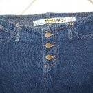 JUNIOR'S MUDD JEANS LOW RIDER FLARED LEG SIZE 1 W26XL31
