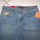 GIRLS STRETCH DISTRESS BLUE JEANS BY SMITH'S W26xL26