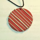 Orange Stripe Pendant