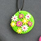 Colorful Daisies Pendant