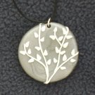 Grey and white Silhouette Pendant