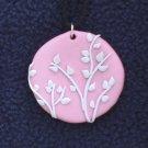 Pale Pink Tree Pendant