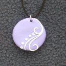 Purple Swirl Detail Pendant