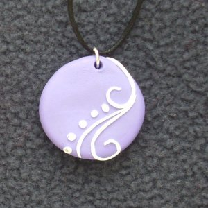 Purple Swirl Detail Pendant