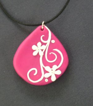 Hot Pink Teardrop Pendant