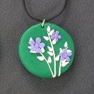 Purple Daisy Pendant
