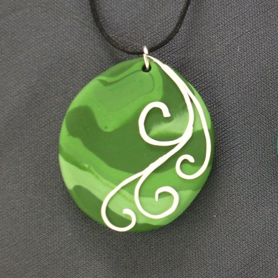 Shades of Green Pendant
