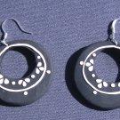 Black Circular Earrings