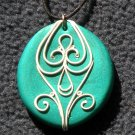 Green and White Pendant