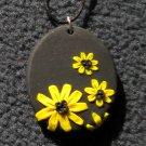 Black eyed susan pendant
