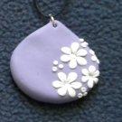 Lavendar with daisies pendant