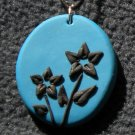 Turquoise and Black Pendant