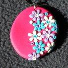 Colorful daisy pendant