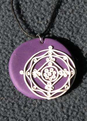 Purple lace pendant