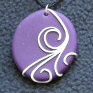 Purple swirl pendant