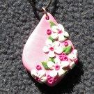 Pink Floral Pendant