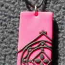 Hot pink lace pendant
