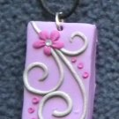 Purple and pink floral pendant