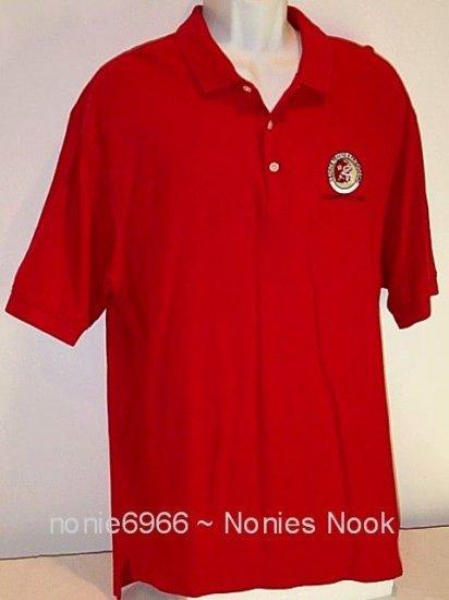 Red Polo Shirt George Teague & Friends Celebrity GOLF Tour mens size XL