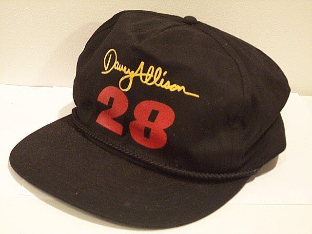 DAVEY ALLISON #28 vintage signature black ball cap hat NASCAR Alabama legend